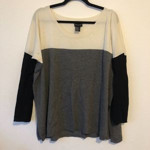 Central Park West Slouchy High Low Sweater